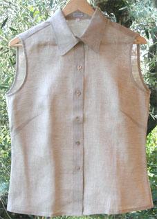 purchase cheap 5fdc8 67427 Camice camicette e pantaloni in lino non tinto